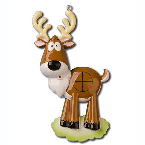 Grantwood Technology Personalized Christmas Ornaments Hobbies/Activities-Deer in Crosshairs