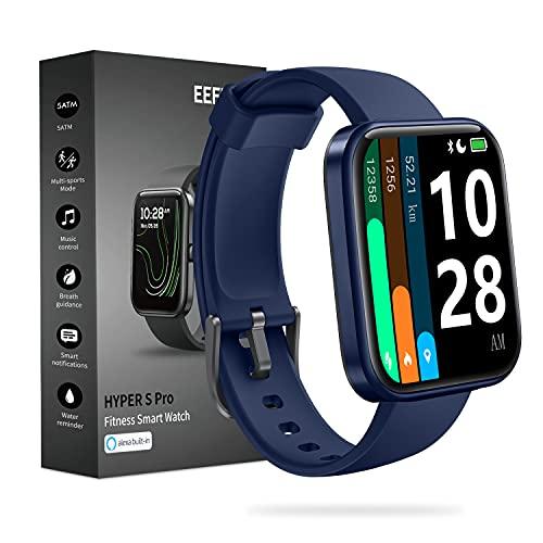 Reloj inteligente EEFINITE de 1,69 pulgadas, multifunción, reloj inteligente de seguimiento de fitness, sumergible hasta 5 ATM, reloj de actividad 2021, azul