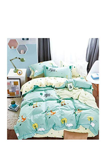 Favorite Gifts, LLC Children's Duvet Cover 3 Piece Bedding Set -(Mint Green Kangaroo, Twin/Twin XL)