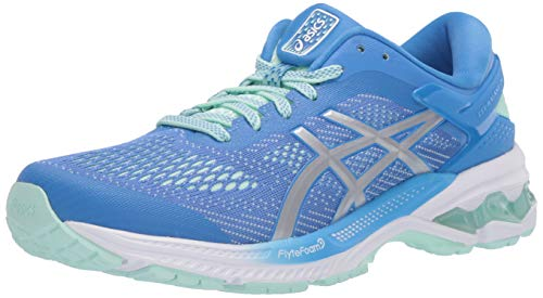 ASICS Women's Gel-Kayano 26 Running Shoes, 12M, Blue Coast/Pure Silver