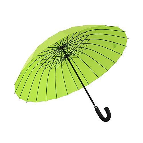 ZHOUYANG Ombrello Antivento Automatico Aperto Curvo Gancio in Legno Maniglia Pioggia Ombrelloni con Il Classico J Maniglia Arc Classic Antivento for Uomini e Donne