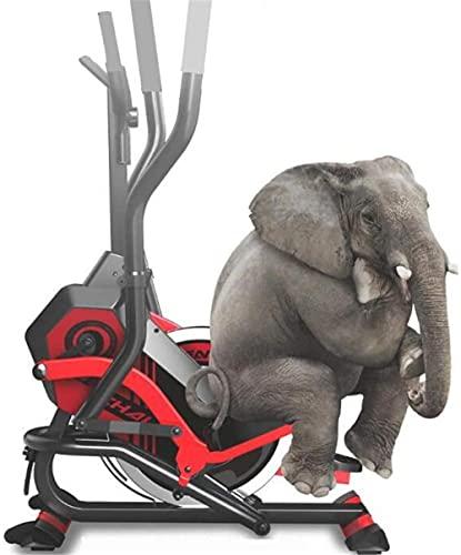 Bicicleta elíptica eléctrica para caminar, máquina de montañismo, equipo de deportes de interior para acondicionamiento físico en el hogar, máquina silenciosa para perder peso de piernas hermosas-rojo