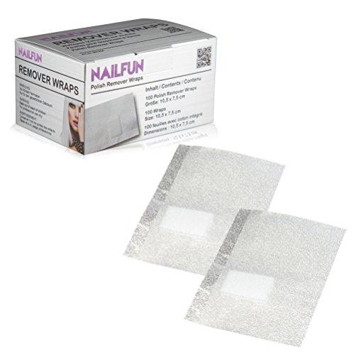 100 Polish Remover Wraps Pads - Hilfsmittel zum einfachen entfernen von UV-Lack oder Nagellack