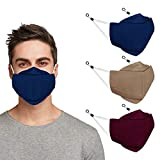Indotribe 3D Anti Fogging Cloth Face Mask With Nose Wire & Adjustable Earloops