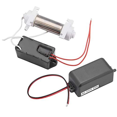 Generatore di ozono, generatore di ozono acqua aria, generatore di ozono portatile metallo + plastica per frigorifero purificatore d'aria deumidificatore(220V)