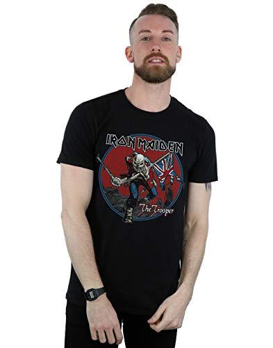Iron Maiden Hombre Trooper Red Sky Camiseta Negro XXX-Large