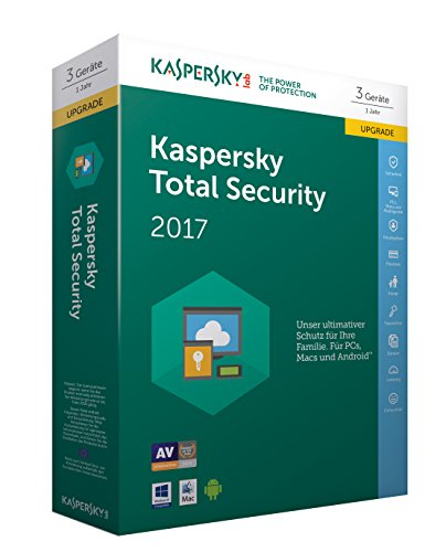 Preisvergleich Produktbild Kaspersky Total Security 2017 Upgrade / 3 Geräte / 1 Jahr / PC / Mac / Android / Download