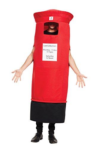 Bristol Novelty AF103 Briefkasten Kostüm, Rot/Schwarz