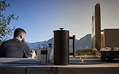 ESPRO P6 Double Walled Stainless Steel Coffee French Press, 32 Ounce, Matte Black