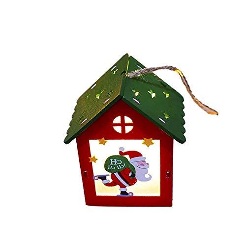 Kinder Weihnachtsgeschenke Glänzend Kleines Haus Weihnachtsschmuck Led Lichter Hotel Bar Weihnachtsbaum Dekoration