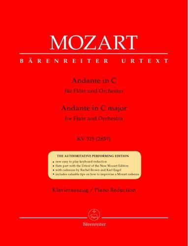 Andante für Flöte und Orchester C-Dur KV 315 (285e). Klavierauszug, Stimmen, Urtextausgabe