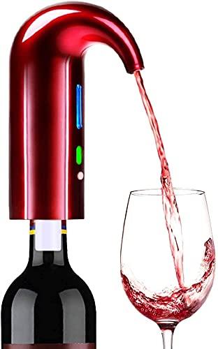 Set de bomba del dispensador de la bomba del dispensador del dispensador del dispensador de la decantación del vino one-touch del vino USB Sput Voulter recargable para vino rojo y blanco Dispensador d