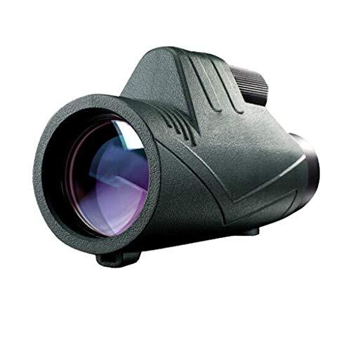 visi/ón monocular 12X50 Noche for los Profesionales de Viajes de Caza mon/óculo LHQ-Prism/áticos Negro monocular telescopios binoculares monocular