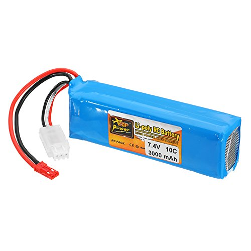 HELEISH Batería Lipo 7.4V 3000mah 10C for Frsky Taranis X9D Plus Transmisor Piezas de montaje de bricolaje