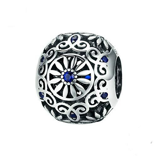 925 Sterling Zirconia Blue Pendant Charm Bead