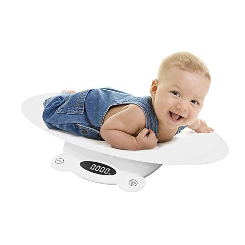 Bilancia per Bambini Pesaneonati Precisione Multifunzione 3 Modalità di Pesatura Scale LED Bilancia per Neonati con Funzione di Blocco Automatico, Peso (massimo: 120 kg)