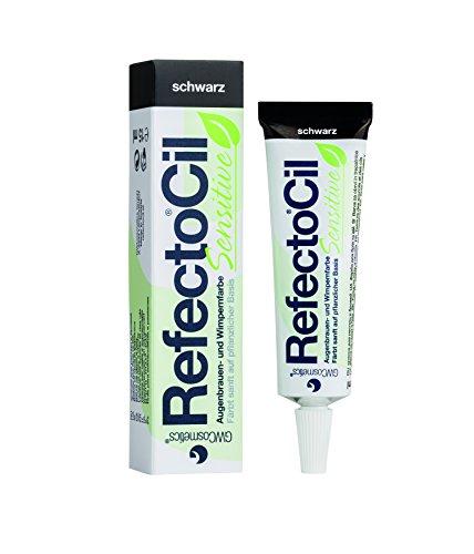 RefectoCil® Wimpernfarbe Sensitiv Schwarz Augenbrauen, Färbemittel 15 ml, Pflanzen Basis