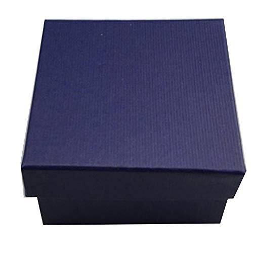 CJFael Schmuck Geschenk Aufbewahrungsbox, Quadrat Pappe Schmuck Uhr Armreif Armband Aufbewahrungskoffer Verpackung Geschenkbox Dunkelblau