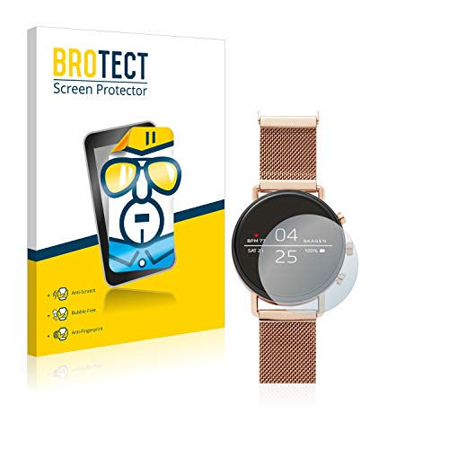 BROTECT Schutzfolie kompatibel mit Skagen Smartwatch Falster 40mm (2 Stück) klare Bildschirmschutz-Folie