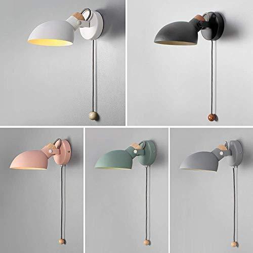Wandlamp glas spiegel voorlicht mast bedlampje modern met snoerschakelaar pull verlichting metaal nachtverlichting solide verlichting bundel Regulable