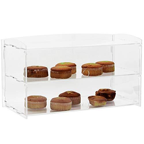 Grandma Shark Vetrina acrilica Vetrina per Torte Ciambelle Cupcake Dolci Pasticcini, Perspex Trasparente(2 Strati)