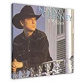 Funda de álbum Kenny Chesney I Will Stand Álbum de lona Póster de dormitorio, decoración deportiva, paisaje, oficina, habitación, marco de regalo, 70 x 70 cm