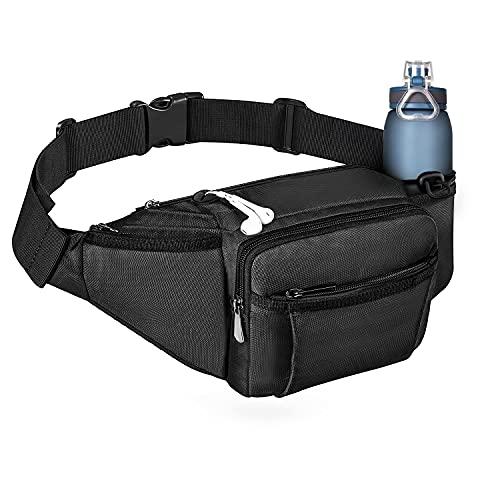 NOOLA Fanny Pack Large Waist Bag Pack for Men Women Hip Bum Bag With Water Bottle Holder Adjustable...