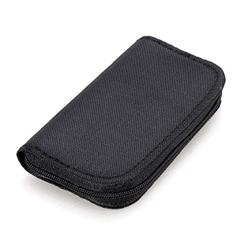 22 Slots Speicherkarten-Tasche wasserdicht SD-Kartenhalter-Tragetasche für Micro SDHC SDXC TF SIM-Karte CF-Schwarz ausreichende Kapazität