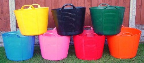 KetoPlastics® Pack Of 3-40 Litre Garden Trug/Flexi Tub/Gorilla Bucket...