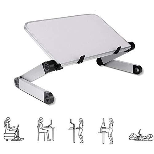 Opklapbare tafel voor laptopstandaard, in hoogte verstelbare laptopverhoger, draagbare ergonomische notebooksteun Lade Bureauopslag voor laptop/tablet