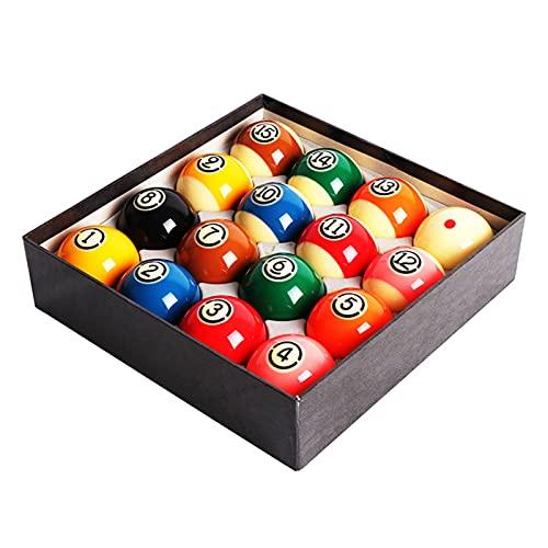 HSBAIS Bolas de Billar, tamaño de regulación 2-1/4 Pulgadas Bolas de Piscina Conjunto Completo 16 Billiard Set Resina de Estilo Americano Pool Table Balls Accesorios,57.2mm