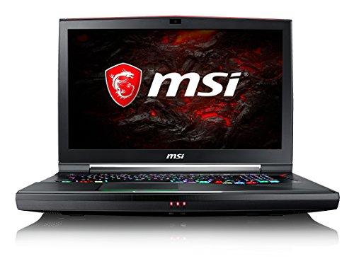 MSI Titan Pro 4K GT75VR 7RF-073ES - Ordenador portátil de 17.3' UHD (Kabylake i7-7820HK, RAM de 32 GB DDR4, SSD de 512 GB y 1 TB HDD, Nvidia GeForce GTX 1080, Windows 10 Home) Negro