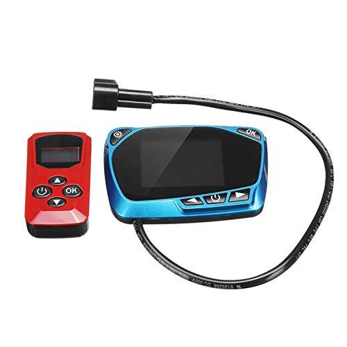 RETTI Calefactor universal de 12 V/24 V, con pantalla LCD, color azul, control remoto