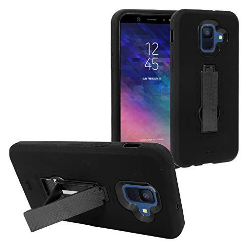 Eaglecell Schutzhülle für Samsung Galaxy A6 (2018) SM-A600, Hybrid-Hülle mit Ständer, ZZ0, Schwarz