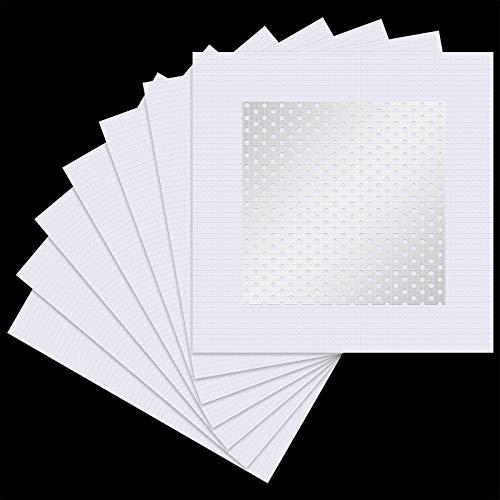 4 x 4 Pulgadas de Parche de Reparación de Pared de Aluminio Parches de Reparación de Pantalla Autoadhesiva para Paneles de Yeso(7 Piezas)