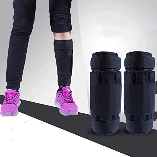 MachinYeser Equipo de entrenamiento de legging de brazo/tobillo ajustable Pesas Bolsa de arena 1-20 kg Entrenamiento con pesas para boxeo GYM Running (color: negro 1-5kg)