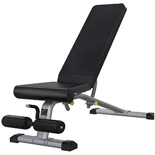 Lamyanran Verstellbar Hantelbank Kommerzielle Bank Press Fitness Chair, Sit-ups Fitnessgeräte Pure Commercial Equipment, 18-Segment-Winkelanpassung, Fitness-Fitness-Eignungsstuhl