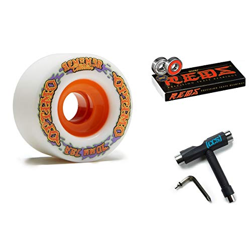Remember Collective Optimo Freeride Wheel, White with Bones Reds...