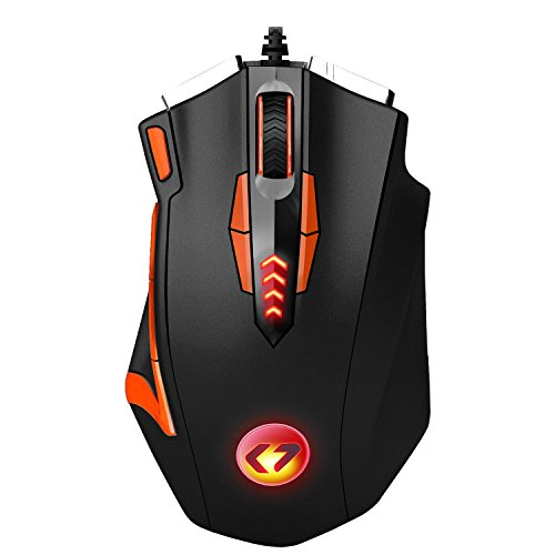 Kingtop 16400 DPI Gaming Mouse Programmabile 13 Tasti...