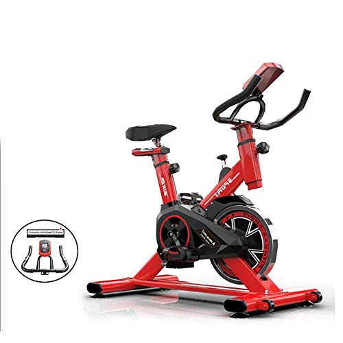 Yanzz Rot, Flüsterleises Professionelle Indoor-Fahrrad, Vertikal Heimtrainer, Aerobic Fitness Cardio Bike for Home-Aerobic-Übung dsfhsfd