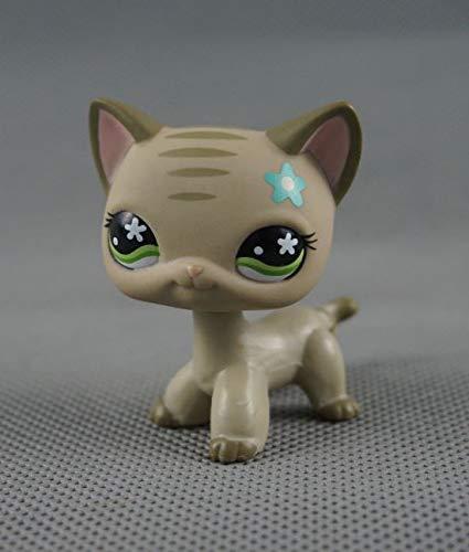 Littlest Pet Shop LPS#483 Toy Kitten Green Flower Eyes Cat Short Hair Kitty