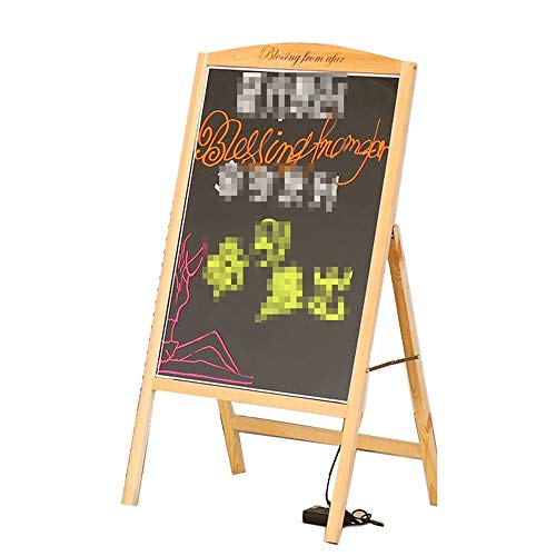 HO-TBO Bacheche messaggi e insegne LED Messaggio Forum, Neon Glow Tavolo da Disegno, Light Up Lampeggiante Finestra di Messaggio, cancellabili Arts Tavolo for Negozio Banco di Mostra attività