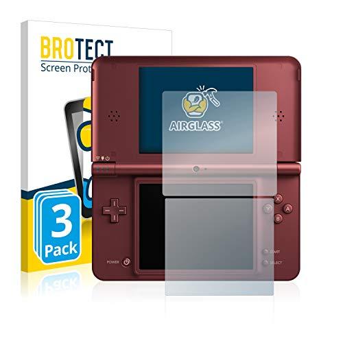 BROTECT Panzerglas Schutzfolie kompatibel mit Nintendo DSi XL (3 Stück) - AirGlass, extrem Kratzfest, Anti-Fingerprint, Ultra-transparent