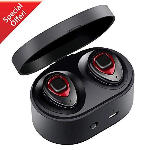 Auricolari Bluetooth - XIAOWU Versione 4.1 con Microfono Integrato e Base di Ricarica Effetto Audio Stereo con Cancellazione del Rumore...