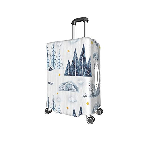 Elastisch Kofferhülle Sträucher Kaninchen Stylisch Kofferschutzhülle Gepäck Cover Reisekoffer Hülle Kofferschutzhülle Luggage Cover Gepäckabdeckung für Gepäckstücke von 18-32 Zoll