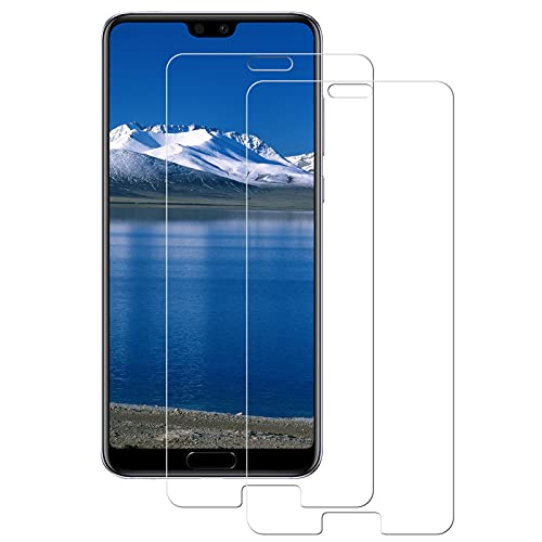 WISMURHI Protector de Pantalla para Huawei P20 Pro, [2 Pack] Cristal Templado para Huawei P20 Pro, Alta Definicion/9H Dureza/Anti Arañazos/Sin Burbujas Vidrio Templado Película para Huawei P20 Pro