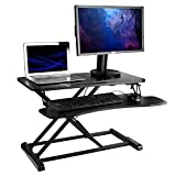 Beantech Core Place Stand Up Desk Converter, 32 inches Wide, 512 sq.in. Total Surface Area Adjustable Height Desk, Home Office Workstation with Two Levels (ADTB-TT)