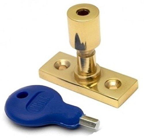 Fenêtre Casement Stay Lock Pin et clés en laiton plaqué Fixations Pack De 2