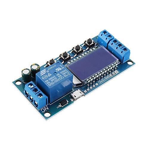Cheng cheng Módulo de fuente de alimentación 5 piezas LCD temporizador relé módulo DC6 – 30 V ciclo de tiempo de apagado, interruptor de retardo DC AC Universal Conducción