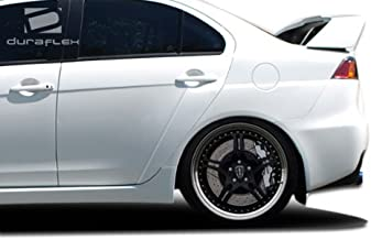 Extreme Dimensions Duraflex Replacement for 2008-2017 Mitsubishi Lancer Evo X Look Rear Fender Flares - 4 Piece